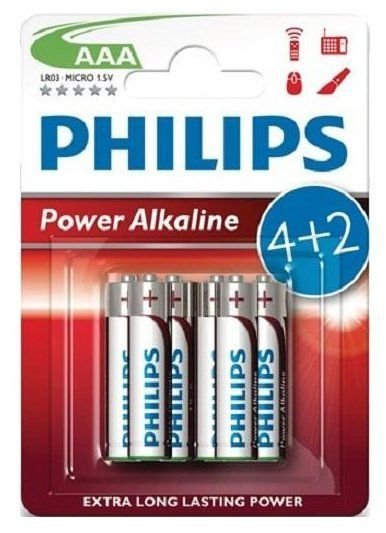Bateria Philips LR03 Power Alkaline AAA 1szt
